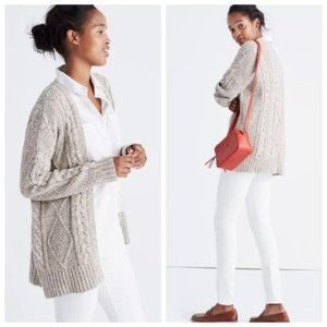 Madewell Cable Knit Cardigan Sweater XS